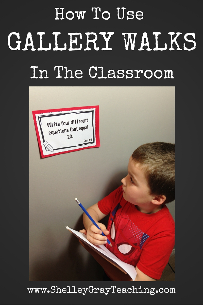 Using Gallery Walks In The Classroom Shelley Gray