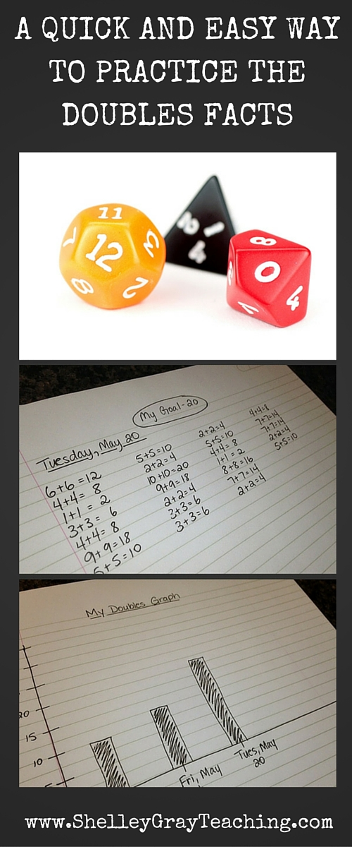 A QUICK AND EASY WAY TO PRACTICE THE DOUBLES FACTS (3)