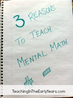 Three Reasons Mental Math edited