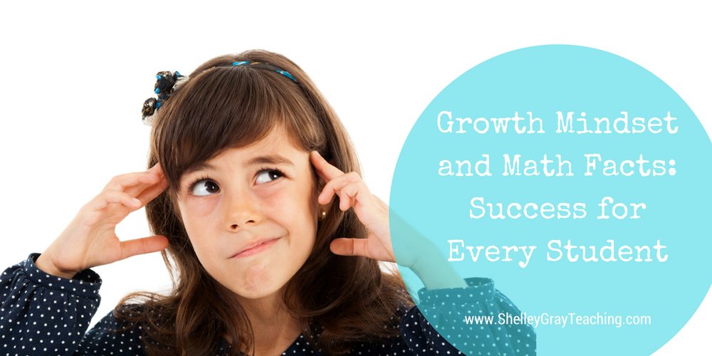 Growth Mindset and Math Facts: Success for Every Student - Shelley Gray