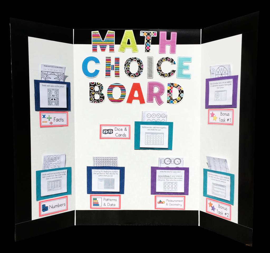 The Math Choice Board Shelley Gray