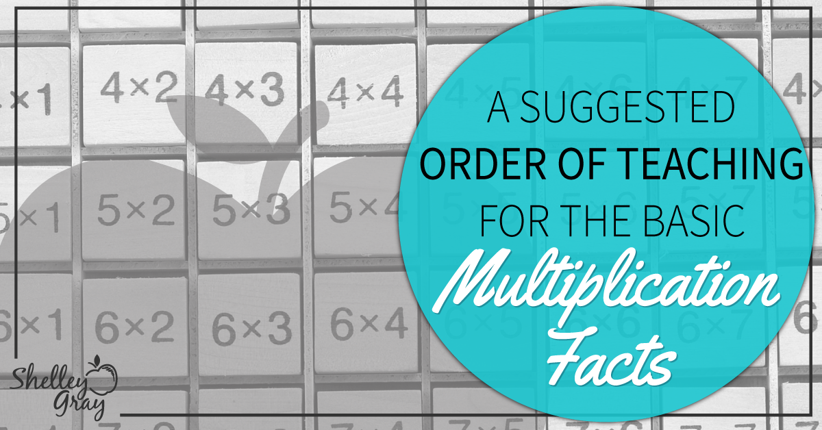 A Suggested Order for Teaching the Basic Multiplication Facts ...