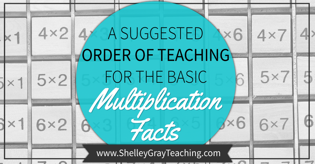 A Suggested Order For Teaching The Basic Multiplication Facts