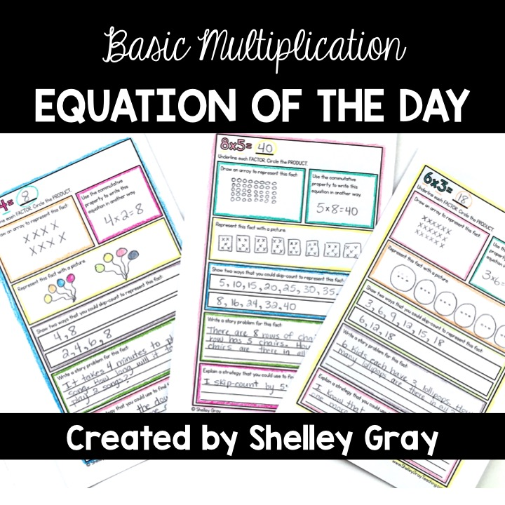 Basic Multiplication Equation of the Day: a booklet for students