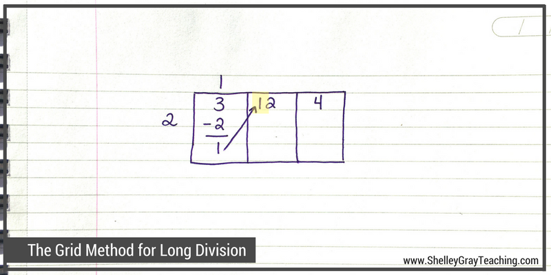 The Grid Method For Long Division Shelley Gray