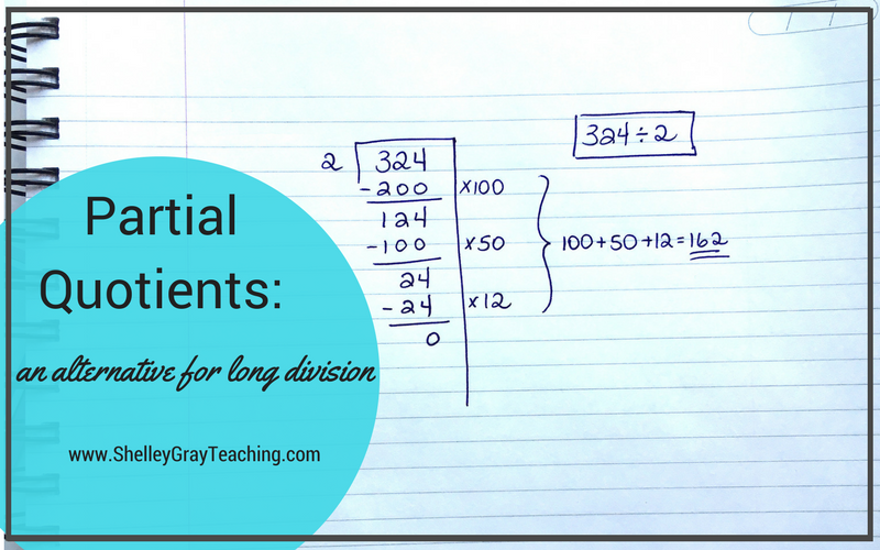 Partial Quotients An Alternative For Traditional Long Division