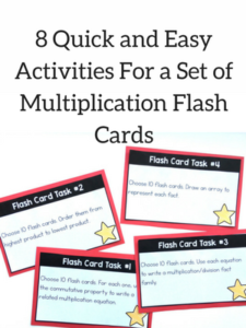 quick and easy activities for a set of flashcards with free printables