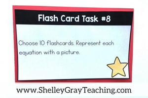 free task cards to use with multiplication flash cards