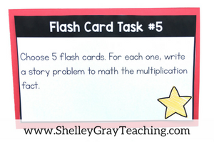 free activities for a set of multiplication flash cards