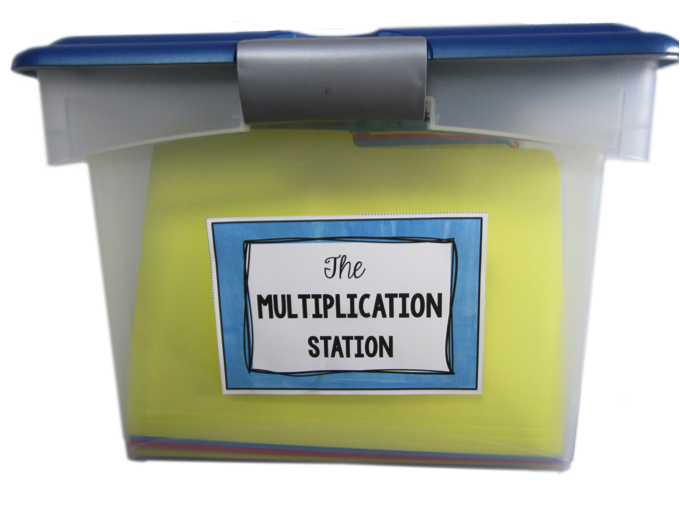 the multiplication station - self-paced, student-centered program for basic multiplication facts