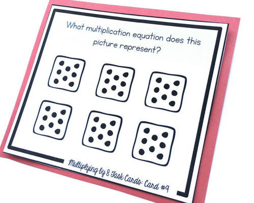 representing multiplication task cards