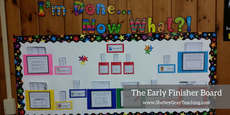Early Finisher Board classroom examples from teachers