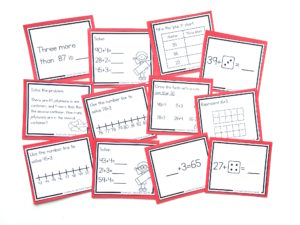 counting on strategy task cards