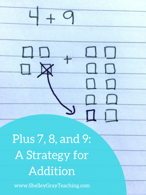 plus 7, 8, and 9 strategy for addition facts