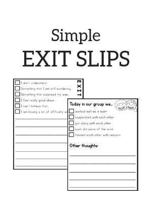 It's just a picture of Exit Tickets Printable with teaching