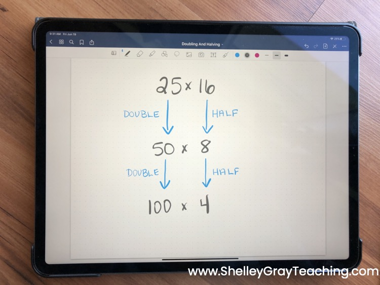 How To Use Halving And Doubling For Multiplication Shelley Gray