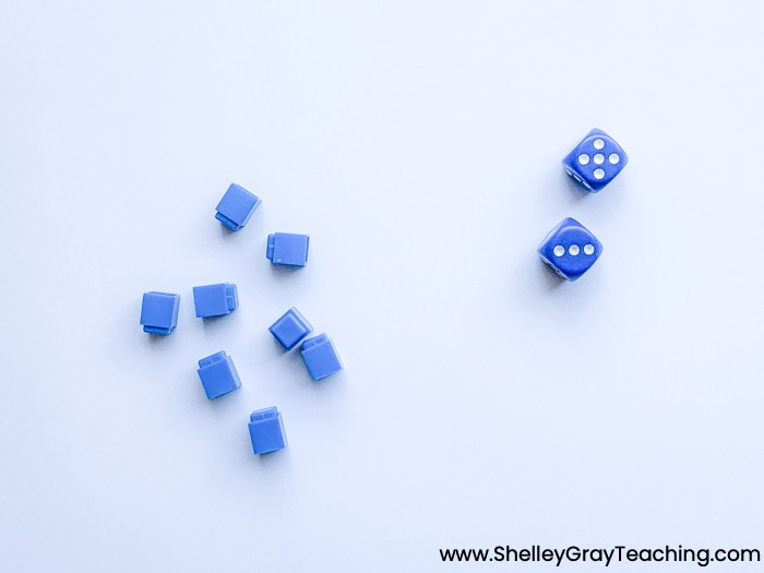 blocks and dice