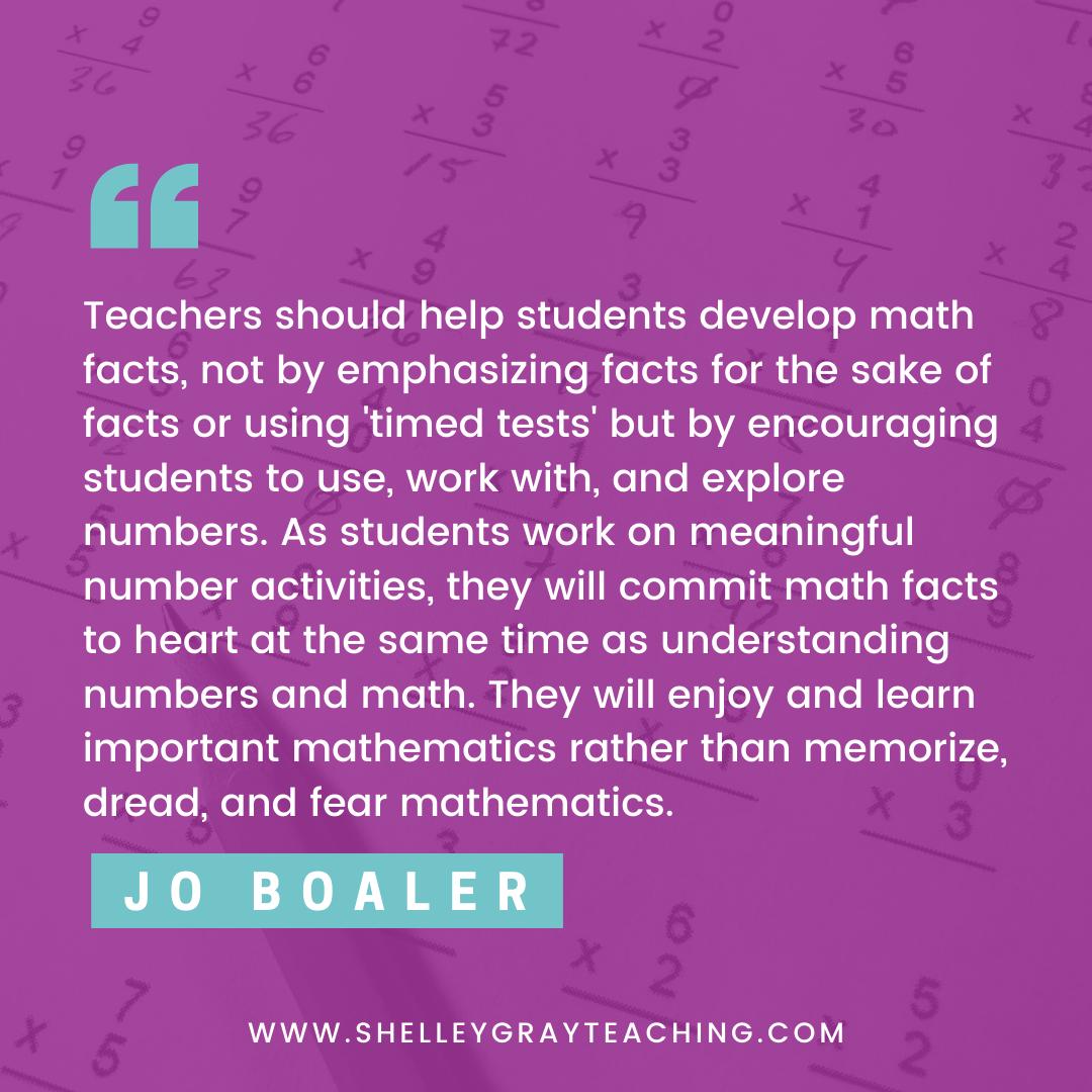 Jo Boaler math quote