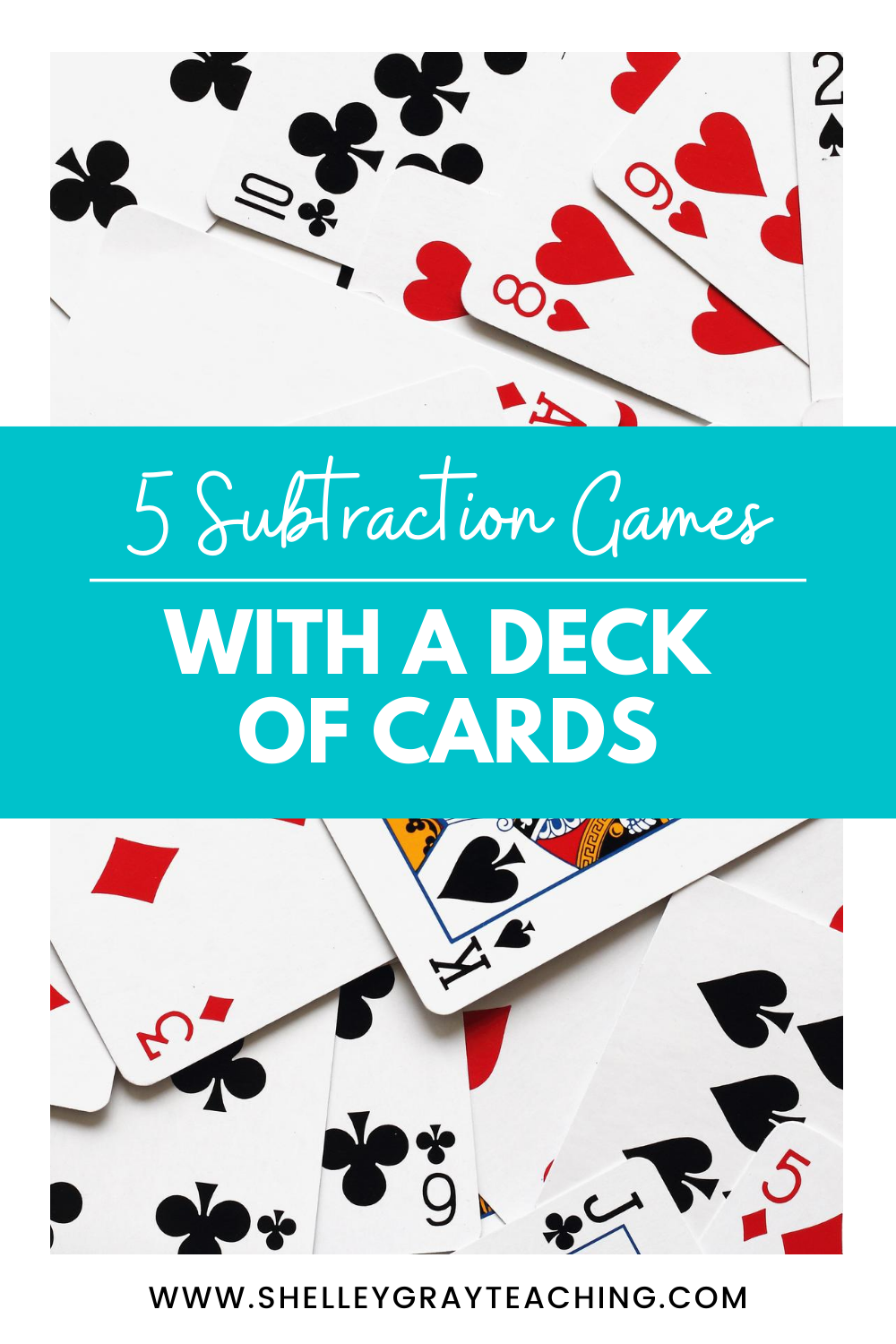 5 Subtraction Math Games with Cards