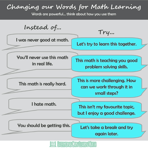 Changing Our Words for Math Learning