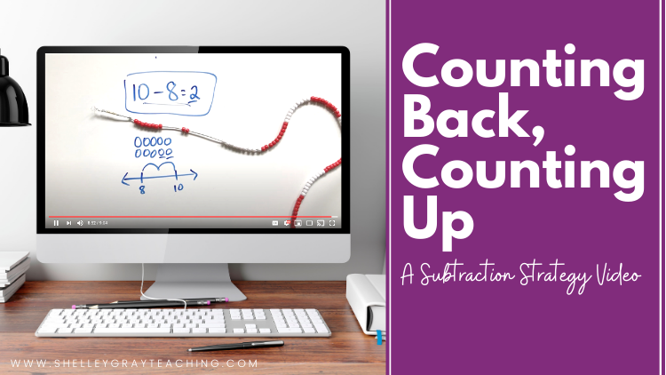 Counting Back Counting Up Subtraction Video