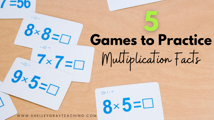 5 Games to Practice Multiplication Facts
